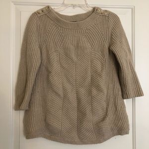 Ann Taylor Cream Sweater in size Small